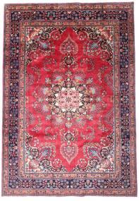 Mashad Matto 203X290 Itämainen Käsinsolmittu Tummanvioletti/Pinkki (Villa, Persia/Iran)