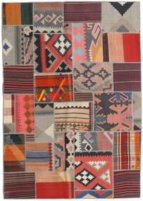 Tekkeh Kelim Matto 141X201 Moderni Käsinkudottu Tummanpunainen/Vaaleanharmaa (Villa, Persia/Iran)