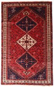 Shiraz Matto 152X247 Itämainen Käsinsolmittu Tummanpunainen (Villa, Persia/Iran)