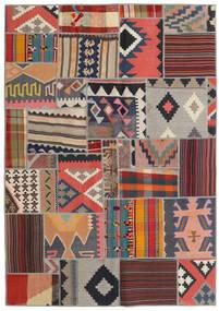 Tekkeh Kelim Matto 141X201 Moderni Käsinkudottu Tummanharmaa/Vaaleanharmaa (Villa, Persia/Iran)