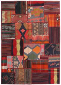 Tekkeh Kelim Matto 141X201 Moderni Käsinkudottu Tummanpunainen/Musta (Villa, Persia/Iran)
