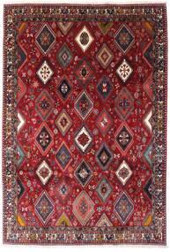 Yalameh Matto 200X292 Itämainen Käsinsolmittu Tummanpunainen (Villa, Persia/Iran)