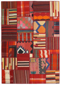 Tekkeh Kelim Matto 141X202 Moderni Käsinkudottu Tummanpunainen/Ruoste (Villa, Persia/Iran)