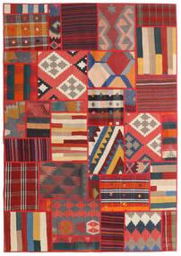 Tekkeh Kelim Matto 141X203 Moderni Käsinkudottu Ruoste/Tummanharmaa/Tummanpunainen (Villa, Persia/Iran)
