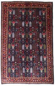 Hamadan Matto 155X239 Itämainen Käsinsolmittu Tummansininen/Tummanpunainen (Villa, Persia/Iran)
