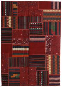 Tekkeh Kelim Matto 141X202 Moderni Käsinkudottu Tummanpunainen (Villa, Persia/Iran)
