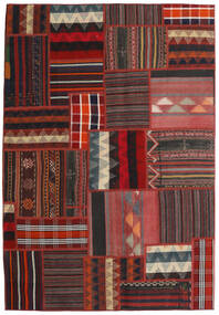 Tekkeh Kelim Matto 139X201 Moderni Käsinkudottu Tummanpunainen/Musta (Villa, Persia/Iran)