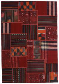 Tekkeh Kelim Matto 138X201 Moderni Käsinkudottu Tummanpunainen (Villa, Persia/Iran)
