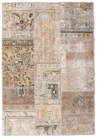 Patchwork - Persien/Iran Matto 108X156 Moderni Käsinsolmittu Vaaleanharmaa/Valkoinen/Creme (Villa, Persia/Iran)