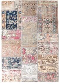 Patchwork - Persien/Iran Matto 107X153 Moderni Käsinsolmittu Vaaleanharmaa/Vaaleanpunainen (Villa, Persia/Iran)