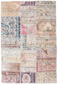 Patchwork - Persien/Iran Matto 108X159 Moderni Käsinsolmittu Vaaleanharmaa/Vaaleanpunainen/Valkoinen/Creme (Villa, Persia/Iran)