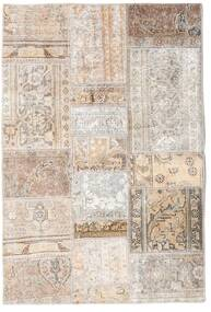 Patchwork - Persien/Iran Matto 105X156 Moderni Käsinsolmittu Vaaleanharmaa/Beige (Villa, Persia/Iran)