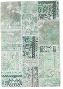 Patchwork - Persien/Iran Matto 109X158 Moderni Käsinsolmittu Vaaleanharmaa/Siniturkoosi (Villa, Persia/Iran)