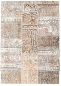 Patchwork - Persien/Iran Matto 109X155 Moderni Käsinsolmittu Vaaleanharmaa/Valkoinen/Creme (Villa, Persia/Iran)