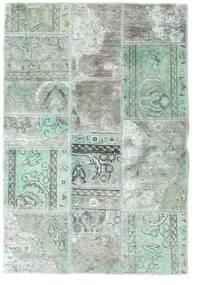Patchwork - Persien/Iran Matto 106X157 Moderni Käsinsolmittu Vaaleanharmaa/Pastellinvihreä (Villa, Persia/Iran)