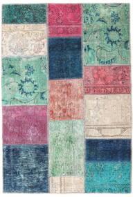 Patchwork - Persien/Iran Matto 107X158 Moderni Käsinsolmittu Tummansininen/Vaaleanharmaa (Villa, Persia/Iran)