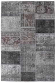 Patchwork - Persien/Iran Matto 107X157 Moderni Käsinsolmittu Vaaleanharmaa/Tummanharmaa (Villa, Persia/Iran)
