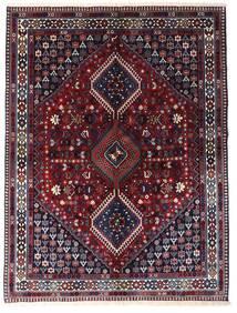 Yalameh Matto 150X200 Itämainen Käsinsolmittu Tummanvioletti/Tummanpunainen (Villa, Persia/Iran)