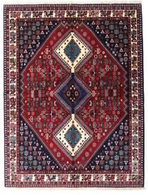Yalameh Matto 151X199 Itämainen Käsinsolmittu Tummanpunainen/Musta (Villa, Persia/Iran)