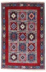 Yalameh Matto 102X157 Itämainen Käsinsolmittu Tummanvioletti/Tummanpunainen (Villa, Persia/Iran)