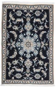 Nain Matto 89X134 Itämainen Käsinsolmittu Musta/Vaaleanharmaa (Villa, Persia/Iran)