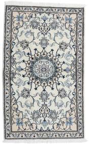 Nain Matto 87X143 Itämainen Käsinsolmittu Vaaleanharmaa/Valkoinen/Creme (Villa, Persia/Iran)
