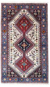 Yalameh Matto 80X132 Itämainen Käsinsolmittu Tummanvioletti/Beige (Villa, Persia/Iran)