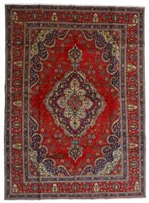 Tabriz Matto 300X408 Itämainen Käsinsolmittu Tummanpunainen/Tummanharmaa Isot (Villa, Persia/Iran)