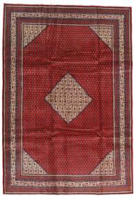 Sarough Mir Matto 214X305 Itämainen Käsinsolmittu Tummanpunainen/Musta (Villa, Persia/Iran)