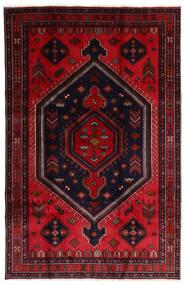 Hamadan Matto 202X308 Itämainen Käsinsolmittu Tummanpunainen/Punainen (Villa, Persia/Iran)