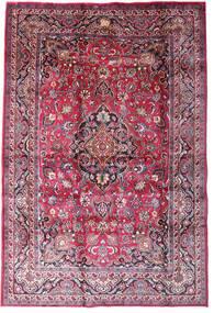 Mashad Matto 198X290 Itämainen Käsinsolmittu Tummanvioletti/Vaaleanpunainen (Villa, Persia/Iran)