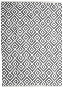 Bamboo Silkki Kelim Matto 300X400 Moderni Käsinkudottu Vaaleanharmaa/Tummanharmaa/Valkoinen/Creme Isot (Villa/Bambu Silkki, Intia)