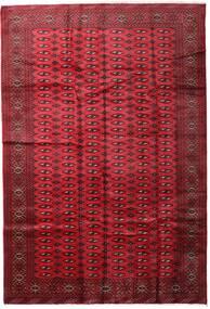 Turkaman Matto 197X285 Itämainen Käsinsolmittu Tummanpunainen/Punainen (Villa, Persia/Iran)