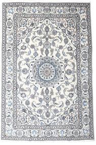 Nain Matto 191X287 Itämainen Käsinsolmittu Valkoinen/Creme/Vaaleanharmaa (Villa, Persia/Iran)