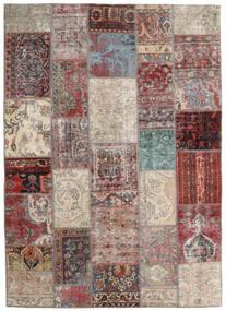 Patchwork - Persien/Iran Matto 170X241 Moderni Käsinsolmittu Vaaleanharmaa/Ruskea (Villa, Persia/Iran)