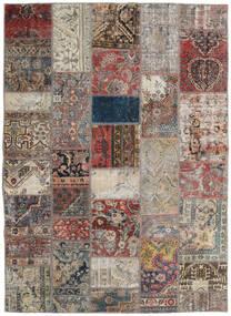 Patchwork - Persien/Iran Matto 172X240 Moderni Käsinsolmittu Vaaleanharmaa/Vaaleanruskea (Villa, Persia/Iran)