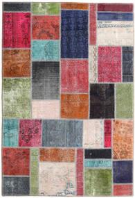 Patchwork - Persien/Iran Matto 160X236 Moderni Käsinsolmittu Vaaleanharmaa/Tummanpunainen (Villa, Persia/Iran)