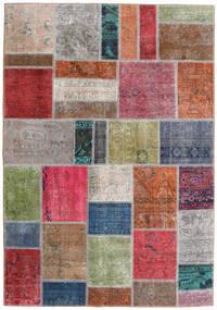 Patchwork - Persien/Iran Matto 163X234 Moderni Käsinsolmittu Vaaleanharmaa/Ruoste (Villa, Persia/Iran)