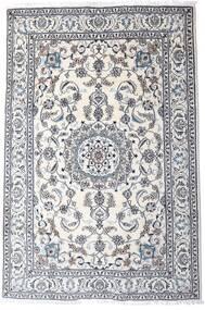 Nain Matto 200X298 Itämainen Käsinsolmittu Vaaleanharmaa/Valkoinen/Creme (Villa, Persia/Iran)