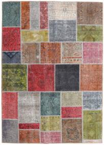 Patchwork - Persien/Iran Matto 165X232 Moderni Käsinsolmittu Tummanharmaa/Tummanpunainen (Villa, Persia/Iran)