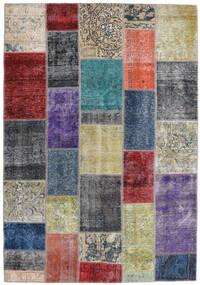 Patchwork - Persien/Iran Matto 168X241 Moderni Käsinsolmittu Tummanharmaa/Vaaleanharmaa (Villa, Persia/Iran)