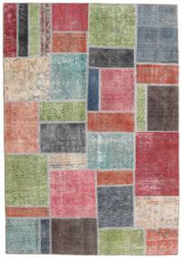 Patchwork - Persien/Iran Matto 167X240 Moderni Käsinsolmittu Vaaleanvihreä/Tummanharmaa (Villa, Persia/Iran)