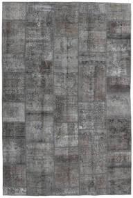 Patchwork - Persien/Iran Matto 200X300 Moderni Käsinsolmittu Tummanharmaa/Vaaleanharmaa (Villa, Persia/Iran)