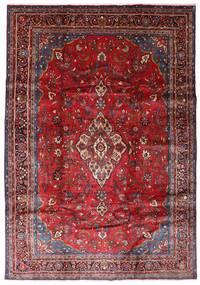 Hamadan Matto 200X289 Itämainen Käsinsolmittu Tummanpunainen/Tummanvioletti (Villa, Persia/Iran)