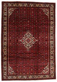 Hosseinabad Matto 202X291 Itämainen Käsinsolmittu Tummanpunainen/Tummanruskea (Villa, Persia/Iran)