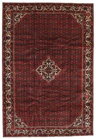 Hosseinabad Matto 202X296 Itämainen Käsinsolmittu Tummanpunainen/Tummanruskea (Villa, Persia/Iran)