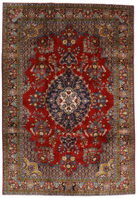 Golpayegan Matto 212X307 Itämainen Käsinsolmittu Tummanpunainen/Tummanruskea (Villa, Persia/Iran)