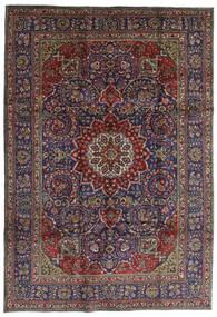 Tabriz Matto 210X304 Itämainen Käsinsolmittu Tummanharmaa/Tummansininen (Villa, Persia/Iran)