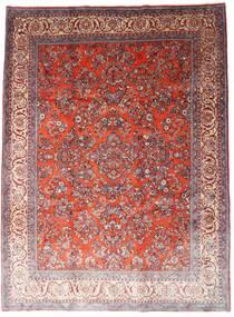Sarough Matto 260X348 Itämainen Käsinsolmittu Tummanpunainen/Vaaleanvioletti Isot (Villa, Persia/Iran)