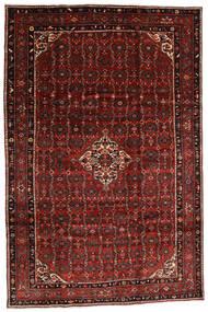 Hosseinabad Matto 200X300 Itämainen Käsinsolmittu Tummanpunainen (Villa, Persia/Iran)
